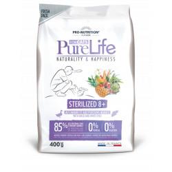 Croquettes chat sans céréale - Pure Life for Cats Sterilized 8+